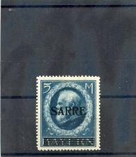 SAAR Sc 38(MI 30)*VF LH 1920 5M PRUSSIAN BLUE $1350
