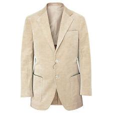 BRUNELLO CUCINELLI $3,395 tan sand corduroy sport coat blazer jacket 40/50 NEW