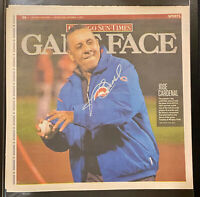 JOSE CARDENAL Signed Chicago CUBS NEWSPAPER Autograph 1st Pitch Sun Times