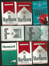 8 VARIOUS Cigarette Packs EMPTY Miixed Starter Lot / FREE U.S.A. SHIPPING