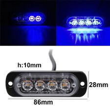 4LED 4W Bar Car Truck Strobe Flash Emergency Warning Light Lamp 12V- 24V Blue UK