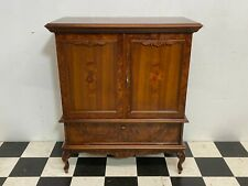 Highly ornate antique style tv cabinet cupboard stand, carved & inlaid -Delivery