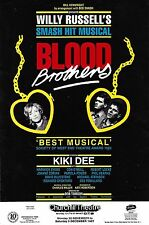"Kiki Dee ""BLOOD BROTHERS"" Con O'Neill / Willy Russell 1987 Bromley, Kent Flyer"