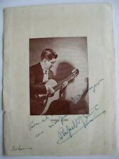Rafael Iturri, Guitarist, Signed, Dedicated Programme, 1958.