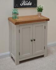 Grey Painted Oak 2 Door Linen Cupboard / Storage Sideboard Solid Swainswick