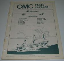 Ersatzteilkatalog Parts Catalog OMC 40 Models Boot Engine Bootsmotor März 1984!