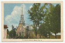 St Patricks Church Magog Quebec Postcard Vintage Canada Unposted
