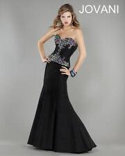Jovani Black Embellished Bodice Mermaid Dress Prom Dress Sz 6 NWT