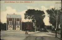Middletown NY McQuoid-Monhagen Fire Engine House Station c1910 Postcard