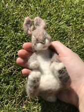 Custom Made to Order Needle Felted Sleeping Rabbit