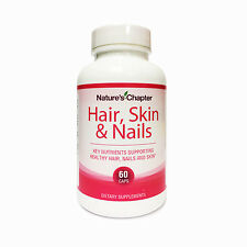 Hair, Skin & Nails Vitamins Biotin 5000 mcg and Folic Acid 400mg - 60 Capsules