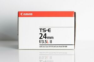 Canon TS-E 24mm f/3.5L II Wide Angle Tilt Shift Lens in Excellent condition