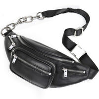 Convertible Small Real Leather Crossbody Sling Purse Fanny Waist Pack Pouch Cool