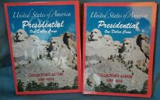 LOT OF 2 US PRESIDENTIAL $1 (ONE DOLLAR) COINS COLLECTOR'S ALBUM BOOK 2007-2016