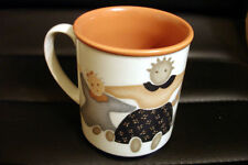 Folk Art Primitive Doll Coffee Beverage Mug Cup - Excellent Condition