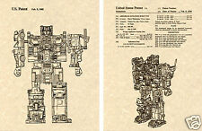 Transformers DEFENSOR US Patent Art Print READY TO FRAME!! Protectobot