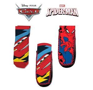 Kids Boys Anti-Slip Socks Multi-Characters Licensed Socks 3+Y