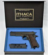 PISTOL GUN PRESENTATION CUSTOM DISPLAY CASE BOX for ITHACA m1911 A1 colt .45 acp
