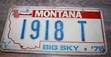Montana  License Plate   1918 T    MODEL T