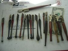 COLLECTION OF OLD GLASS CUTTERS
