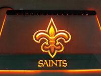 New Orleans Saints Yellow Neon Led Sign Light Bar Man Cave No Drop Ship Fast USA