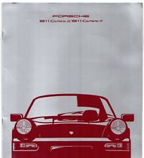 Porsche 911 1989-90 UK Market Brochure 964 Carrera 2 4 Coupe Targa Cabriolet
