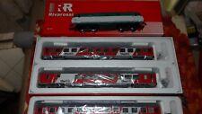 "ACME Set Thello ""MiNiMa"", 3 carrozze livrea rossa fasce bianche + E444 XMPR"