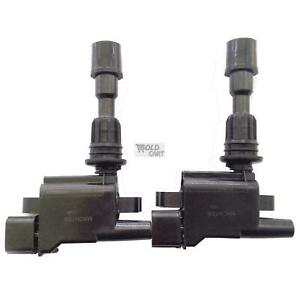 2X Ignition Coils Ford Laser KN KQ 1.6L Mazda 323 BJ ZMD 98-03 4cyl 3 Terminal