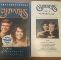 THE CARPENTERS ONLY YESTERDAY - THE CARPENTERS INTERPRETATIONS VHS VIDEO BUNDLE