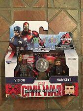 Marvel Minimates VISION & HAWKEYE TRU Exclusive Civil War Movie Captain America