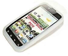 Silikon TPU Handy Hülle Cover Case Schalle in Weiß für LG P970 Optimus Black