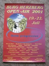 Burg Herzberg Open Air 2001 Poster NEU  Alvin Lee  Pretty Things  Porcupine Tree