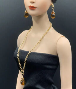 """Handmade Necklace & Earrings Jewelry Set For Fashion Dolls Tonner, FR16 16"""" 22"""""""