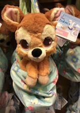 "Bambi Plush with Blanket Pouch 10"" Babies Disney Theme Parks New"
