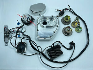 ENGENUITY MOTORS HARLEY TWIN CAM BILLET CAM COVER DIGITAL IGNITION STAND ALONE