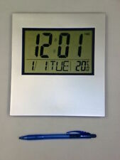 Large Digital Wall Clock LCD desk alarm temp temperature office school hall very