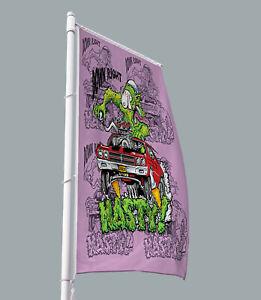 Rat Fink SNOT NASTY Car Flags & Banner Artwork 3x5ft AMERICAN MUSCLE Vertical