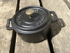 "Staub La Cocotte cast iron miniature pans, no. 10, 3 7/8 "", made in France"
