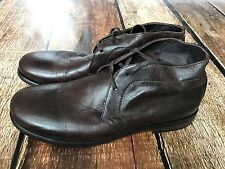 BACCO BUCCI BROWN LEATHER BOOTS 22182 MENS SIZE 8 MADE IN ITALY EUC