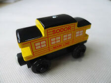 Mattel Thomas Wooden Railways Magnetic Sodor Line Caboose Yellow Train Loose