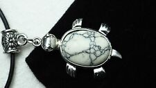 Howlite Marble Natural Gemstone Turtle Pendant Necklace Pendulum Crystal Gift