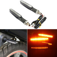 Universal Motorcycle Bike 12 LED Turn Signal Lamp Indicator Blinkers Amber New