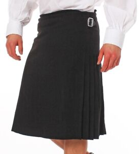 Kilt Schottenrock schwarz  bzw Black Watch Tartan  Gr 30-54 NEU Highlander