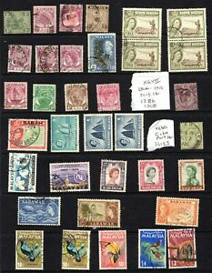 MALAYSIA: 1930s onwards, small used part set collection on display card