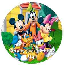 """Mickey Mouse Clubhouse Personalised Wafer Paper Topper For Large Cake 7.5"""""""