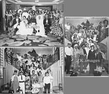 BAL COSTUME Paquebot COLOMBIE Vin NICOLAS 3 Photos 30s