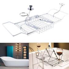 Bathroom Shower Tub Bathtub Caddy Storage Holder Soap Red Wine Rack Holder