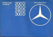 MERCEDES CLASSE E w123 Diesel Manuale di istruzioni 1977 manuale BA