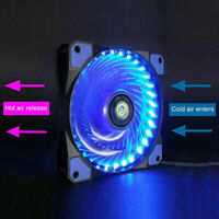 Computer Case PC RGB Cooling Fan LED 120mm Cooler with Quiet Control Remote X4W5