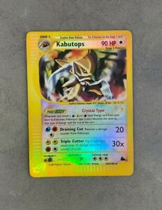 Mint Kabutops 150/144 - Pokemon Skyridge - Reverse Holo Crystal Rare - Flawless